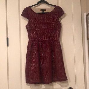 Nordstrom crochet overlay dress